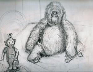 Gorilla + Tinky Winky